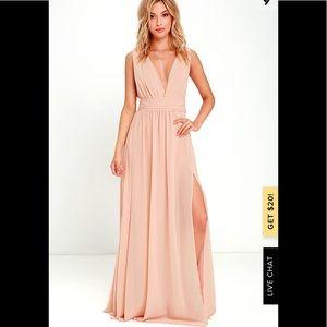 Lulus Heavely hues Peach Maxi